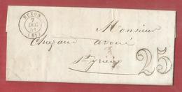 Lac De 1851 - Nexon Haute Vienne - Pour Saint Yrieix  - Taxe 25 - 1849-1876: Période Classique
