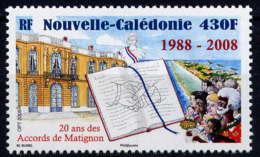 NCE - 1037** - 20è ANNIVERSAIRE DES ACCORDS DE MATIGNON - Nouvelle-Calédonie