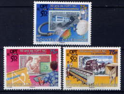 NCE - 1045/1047** - CINQUANTENAIRE DE L'O.P.T. - Nouvelle-Calédonie