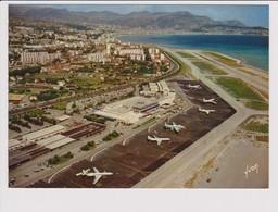 Vintage Rppc Air France Boeing 707 & Caravelle @ Nice Airport - 1919-1938: Between Wars