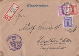 DR Dienst R-Brief Mif Minr.159,160,165 Frankfurt 24.2.43 - Dienstpost