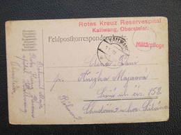 Feldpost Korrespondenzkarte Kallwang - Chuderin 1916 Rotes Kreuz  ///  D*36997 - 1850-1918 Empire