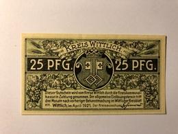 Allemagne Notgeld Wittlich 25 Pfennig - [ 3] 1918-1933 : République De Weimar