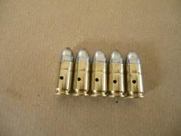 5 Cartouches 9 Mm Parabellum Britannique Datées 1944 - Equipment