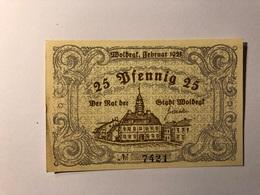 Allemagne Notgeld Wolbegl 25 Pfennig - [ 3] 1918-1933 : République De Weimar