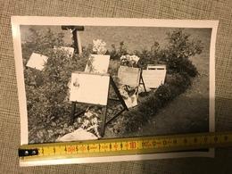 PHOTO N/B TOMBE DE GERMAIN FOCH FILS MARECHAL FOCH 1914 CIMETIERE CUSSIGNY GORCY 1935 - Vieux Papiers