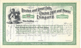 Boston Electric Light N Power Company - Bulb Electric Lamp - Electricité & Gaz