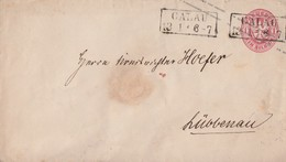 Preussen GS-Umschlag 1 Silbgr. R2 Calau 13.1. Gel. Nach Lübbenau - Preussen