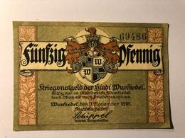 Allemagne Notgeld Wunfiedel 50 Pfennig - [ 3] 1918-1933 : République De Weimar