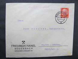 BRIEF Bodenbach - Teplitz Frieddrich Hanel  1939 Bergbau ///  D*37004 - Briefe U. Dokumente
