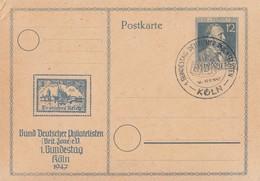 Gemeina. Privat-GS 1. Bundestag Dt. Philatelisten Köln 18-19.9.47 SST - Gemeinschaftsausgaben