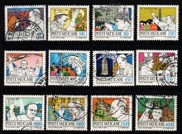 R340. VATICAN 1984. SC#: 737-748 - USED - PAPAL JOURNEYS - Vatican
