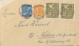 Gemeina. Zehnfachfr. Brief Mif Minr.950,952,2x 959 Zernsdorf 25.6.48 - Gemeinschaftsausgaben