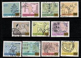 R342. VATICAN 1981. SC#: 694-704 - USED - PAPAL JOURNEYS J. P. II - Vatican