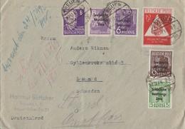SBZ R-Brief Mif Minr.183,187,200,201,213,228 Treuen 27.12.48 Gel. Nach Schweden - Sowjetische Zone (SBZ)