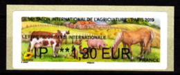 Atm-Lisa /  Lettre Prio Internationale IP 1.30 € Salon De L'Agriculture 2019 - 2010-... Vignettes Illustrées