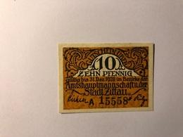 Allemagne Notgeld Zittau 10 Pfennig - [ 3] 1918-1933 : République De Weimar