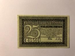 Allemagne Notgeld Zittau 25 Pfennig - [ 3] 1918-1933 : République De Weimar