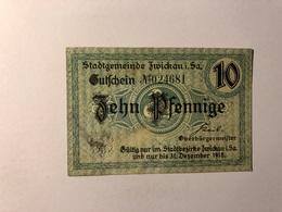 Allemagne Notgeld Zwickau 10 Pfennig - [ 3] 1918-1933 : République De Weimar