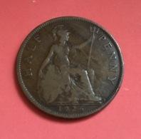 GRAN BRETAGNA  - ENGLAND  1926  Moneta 1/2 PENNY Giorgio V - 1971-… : Monnaies Décimales