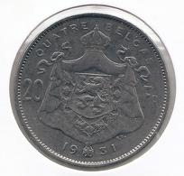 ALBERT I * 20 Frank / 4 Belga 1931 Frans  Pos.A * Z.Fraai / Prachtig * Nr 9897 - 1909-1934: Albert I