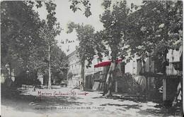 LAMALOU Les BAINs : L'Avenue  Et La Maison Castanier  Avec Encart Publicitaire Au Dos - Lamalou Les Bains