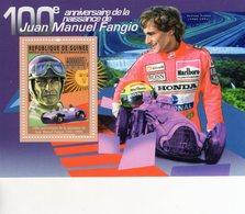 Guinee - 100e Anniversaire De La Naissance De Juan Manuel Fangio  -  Ayrton Senna  - 1v MS Neuf/Mint/MNH - Cars