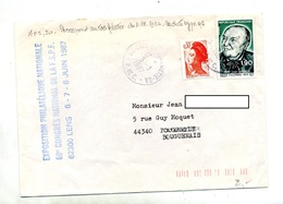 Lettre Cachet Eleu Annexe GA - Postmark Collection (Covers)
