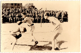 ROUMANIE / ROMANIA : BOXE / BOXING - 1943 : PIPERA - SERBAREA ANEF  - CARTE VRAIE PHOTO / REAL PHOTO - RRR (aa588) - Boxe