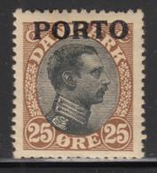 Denmark 1921 MH Sc #J6 PORTO On 25o King Christian X - Port Dû (Taxe)