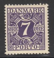 Denmark 1930 MH Sc #J14 PORTO 7o Numeral Purple - Port Dû (Taxe)