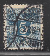 Denmark 1907 Used Sc #P2 5o Numeral Newspaper Stamp - Danemark