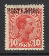 Denmark 1919 MH Sc #Q3 POSTFAERGE On 10o King Christian X - Colis Postaux