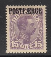 Denmark 1919 MH Sc #Q4 POSTFAERGE On 15o King Christian X - Colis Postaux