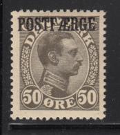 Denmark 1922 MH Sc #Q8a POSTFAERGE On 50o King Christian X  Olive Gray - Colis Postaux
