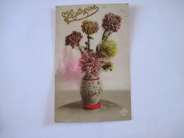 CPA   Ste Catherine En Lettres Dorées En Relief Vase D'oeillets 1924 DEDE 213   TBE - Saint-Catherine's Day
