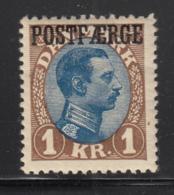 Denmark 1924 MH Sc #Q9 POSTFAERGE On 1k King Christian X Type I - Colis Postaux