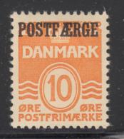 Denmark 1936 MH Sc #Q16 POSTFAERGE On 10o Numeral, Wavy Lines - Colis Postaux