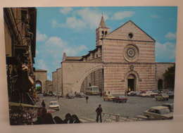 Assisi S. Chiara Auto Cars Bus Cartolina 1986 - Italië