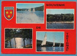 Souvenir De TREIGNAC - Multivues Blason - Carte Circuilé 1976 - Treignac