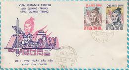 Enveloppe  FDC   1er  Jour   VIETNAM     Empereur  QUANG - TRUNG   1972 - Viêt-Nam