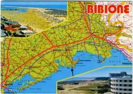 BIBIONE  VENEZIA  Vedutine  Carta Geografica Litorale Veneto  Mar Adriatico - Carte Geografiche