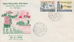 Enveloppe  FDC   1er  Jour   VIETNAM     Journée  Des  Agriculteurs  1972 - Viêt-Nam