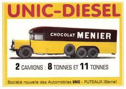 Camion Unic Publicité Chocolat Menier - Camions & Poids Lourds