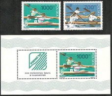 Poland,  Scott 2018 # 2980-2981a,  Issued 1990  Set Of 2 + S/S Of 1 With Label,  MNH,  Cat $ 3.05,  Sports - 1944-.... Republic