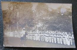 Indochine  Défilé Militaires 14 Juillet 1905 Carte Photo Ancienne Colonial - Vietnam