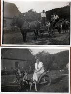 Photo Originale Attention, Communiante Au Volant En 1955 ! - Automobiles