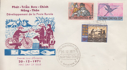 Enveloppe  FDC   1er  Jour   VIETNAM    Développement  De  La  Poste  Rurale   1971 - Viêt-Nam