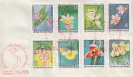 Enveloppe  FDC   1er  Jour   VIETNAM   Orchidées   1976 - Viêt-Nam