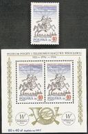 Poland,  Scott 2018 # 2759-2759,  Issued 1986,  Single + S/S Of 2,  MNH,  Cat $ 4.50, - 1944-.... Republic